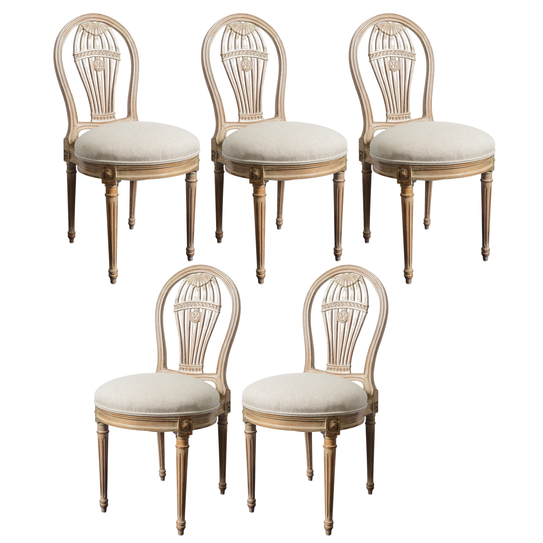chair with balloons computer racing vintage set of 5 balloon chairs maison jansen style on