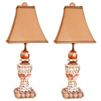 Pair of Seashell Lamps with Finials : On Antique Row ...