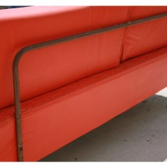 Tangerine Sofa Made In Usa Vintage Leather Oragne Day Bed On Antique