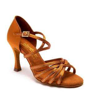 FLAVIA SEQUIN – TAN SATIN/TAN SEQUIN