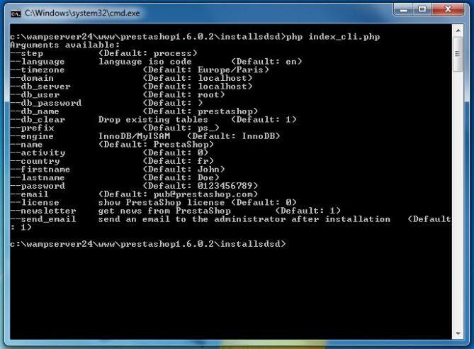 Prestashop command line interface