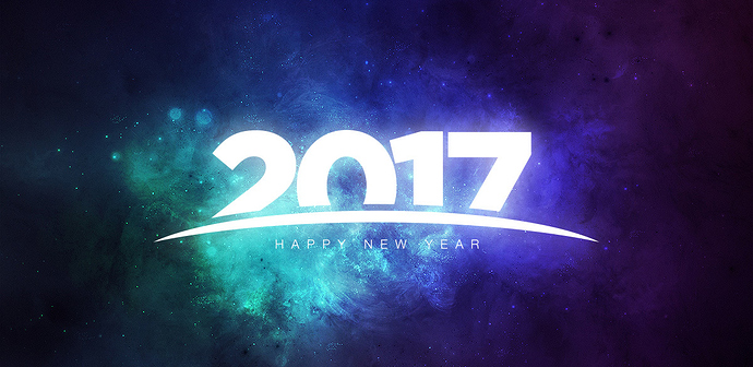 Happy New Year 2017 graphics