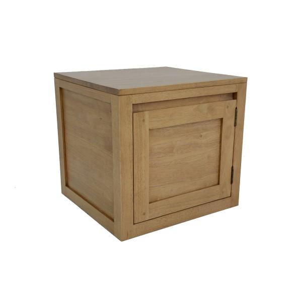 meuble tv 1 porte bois massif