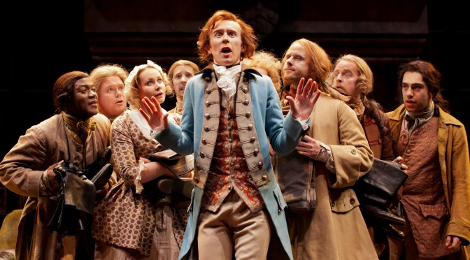"""She stoops to conquer"" at the National Theatre"