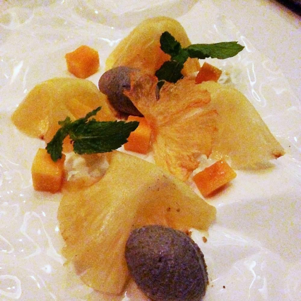 Pineapple desert at Temple Restaurant Beijing