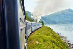 View from the window of the Golden Eagle Trans Siberian