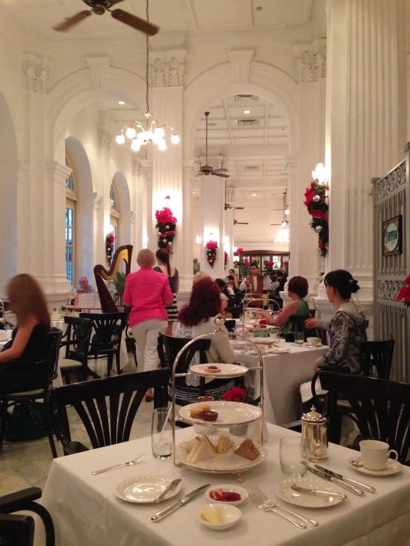 Tiffin Room tea at the Raffles Hotel