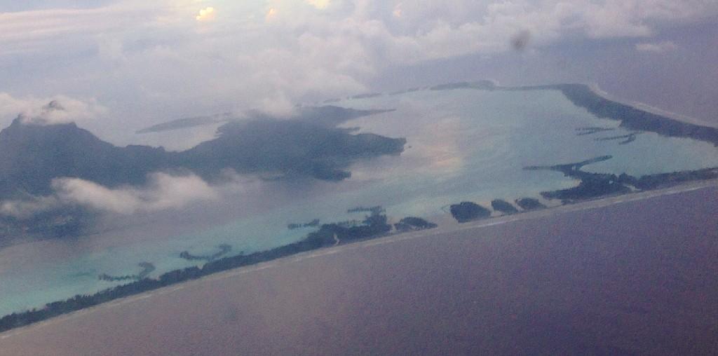 Bora Bora from the sky