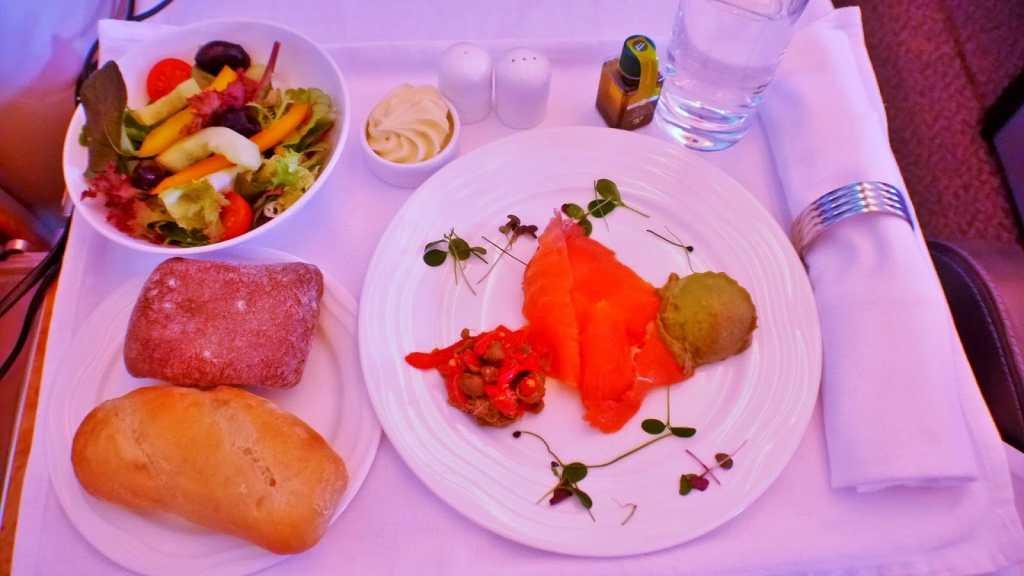 Emirates A380 food