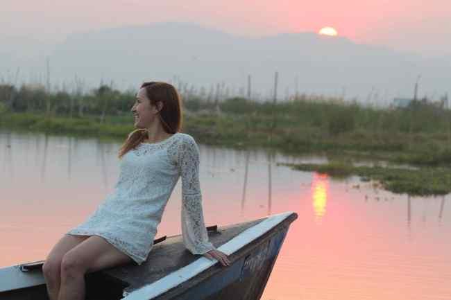 """'Inle Lake at sunset"""""""