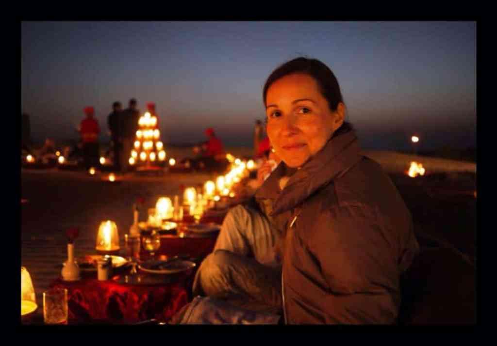 Desert dinner under the stars o the maharajas express train