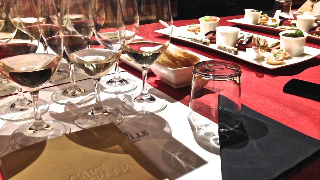 Wine and food degustation