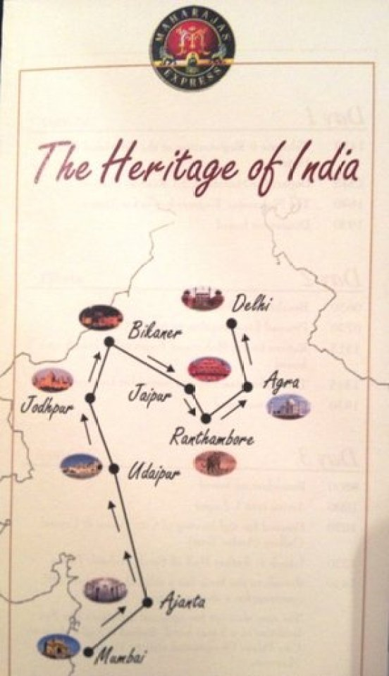 Maharajas Express route