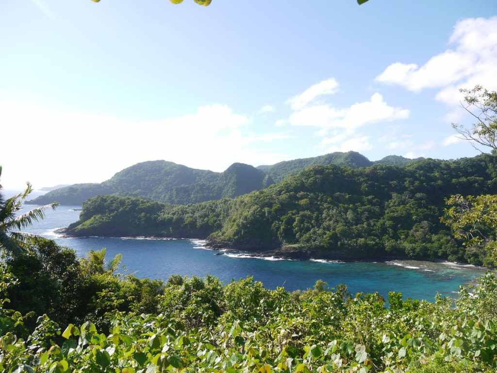 American Samoa rugged coast