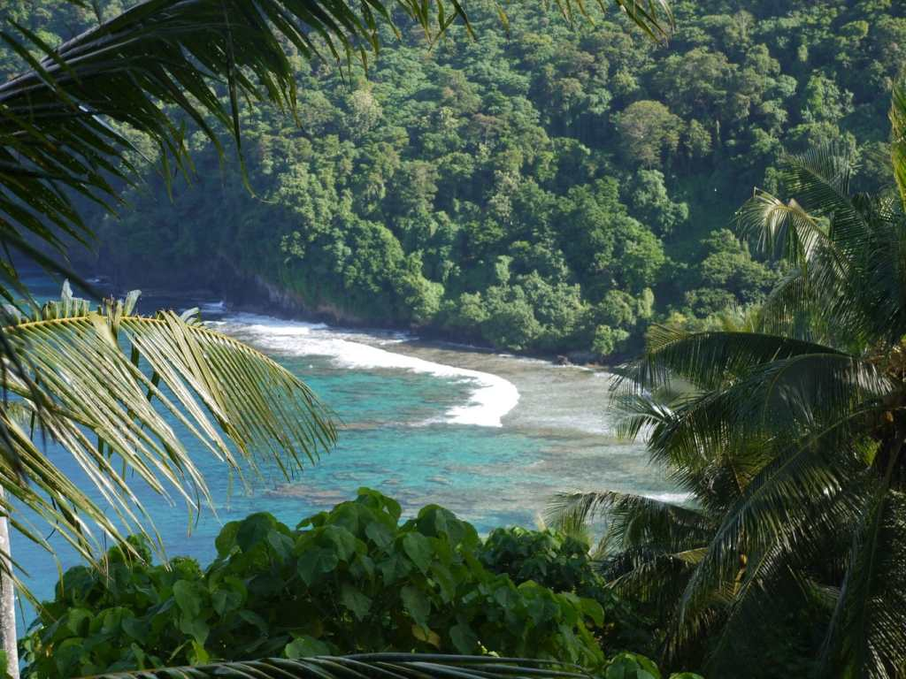 No sandy beaches on American Samoa