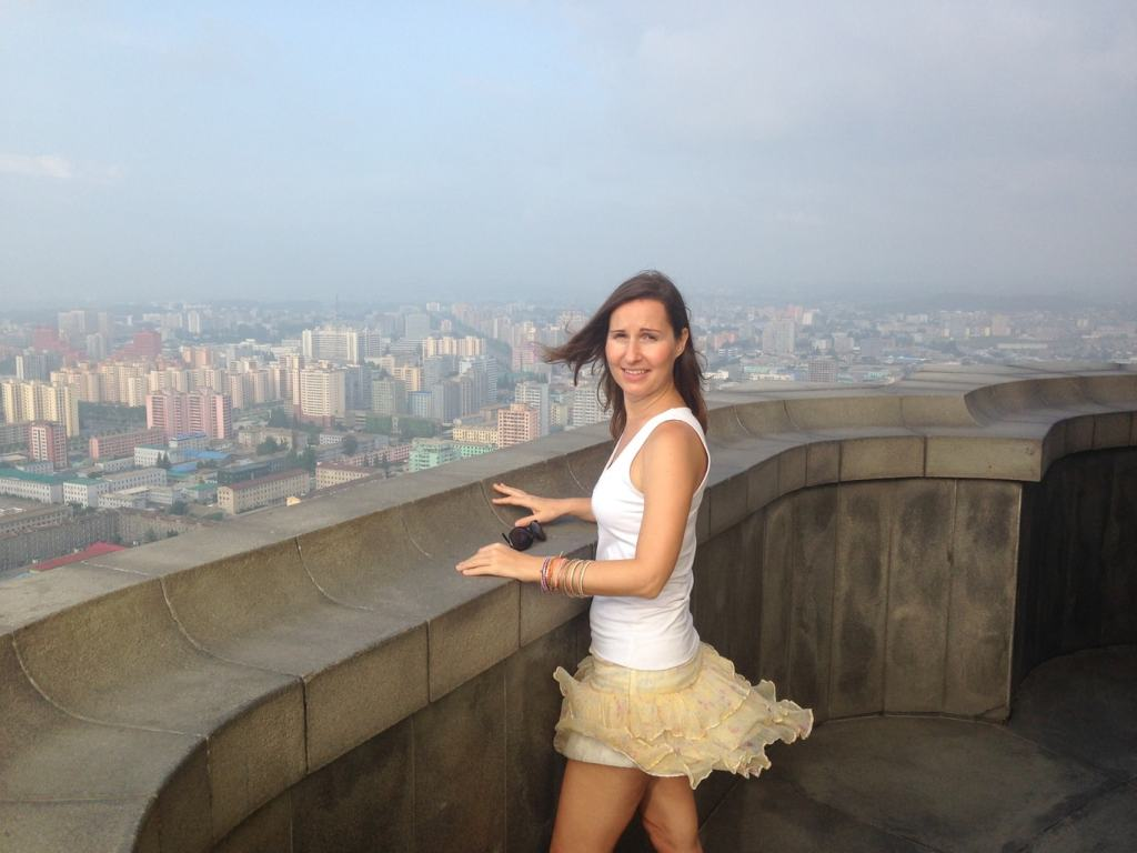 View from above Juche Tower