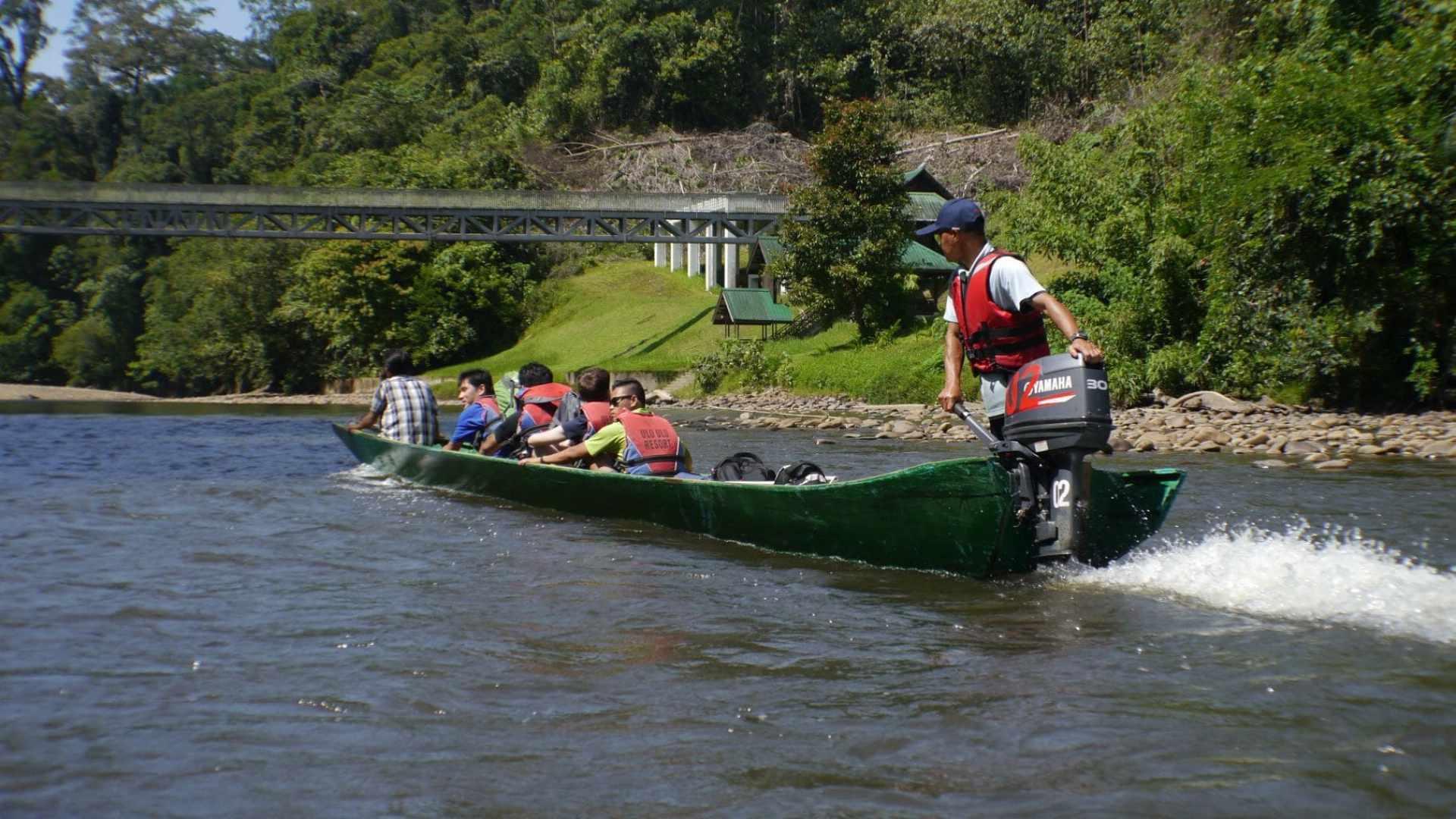 """Boat ride in Ulu Temburong"""