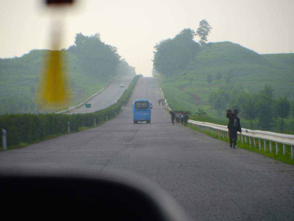 The roads to Kaesong on the north korea tour