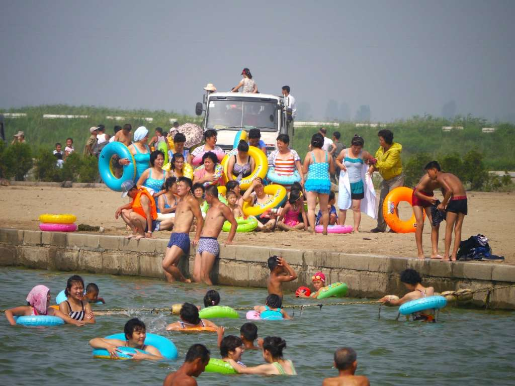 A day at the beach at Nampo Islet