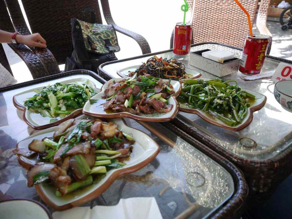 Lunch in the village of the Qiang Minority