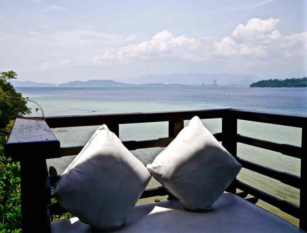 Gaya Island Resort veranda lounge