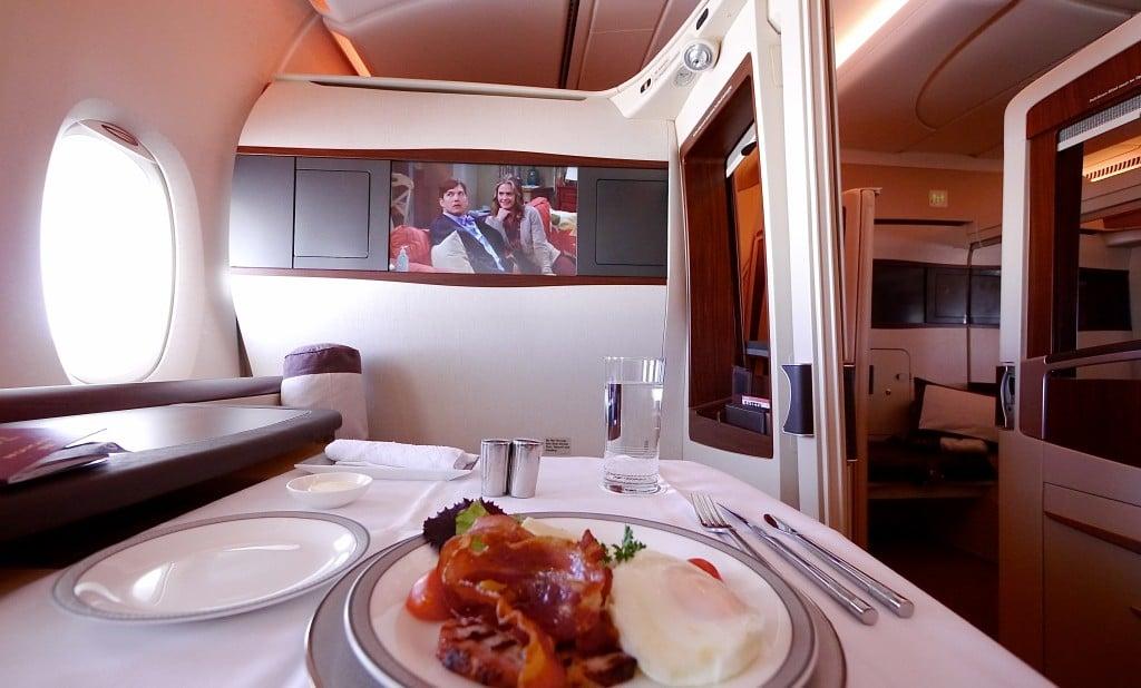 Singapore Airlines Suites Breakfast