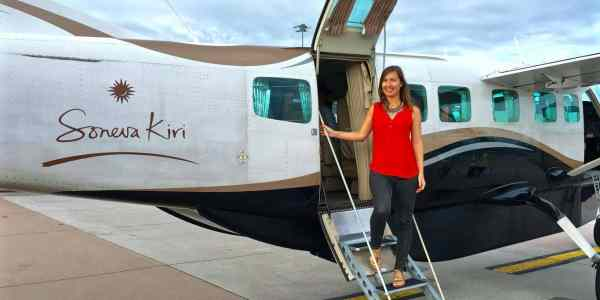 Soneva Kiri private jet