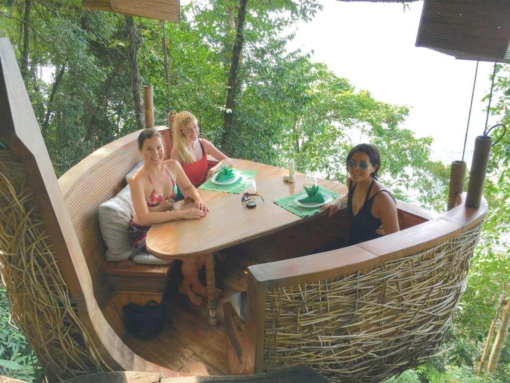 Soneva Kiri tree Pod dining
