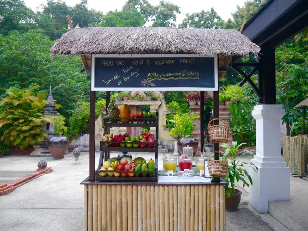 Belmond La Residence Phou Vao Juice cart