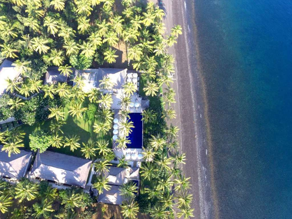 Spa Village Tembok from the air