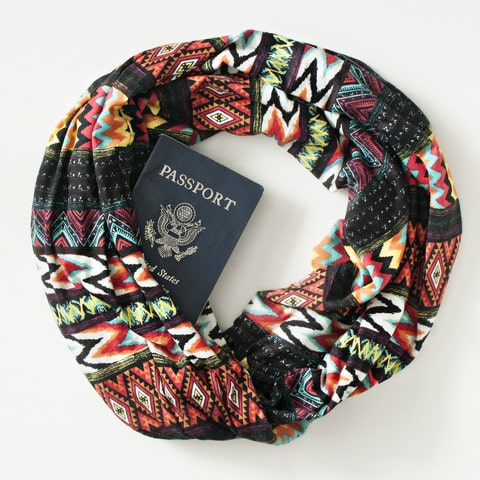 Speakeasy travel scarves
