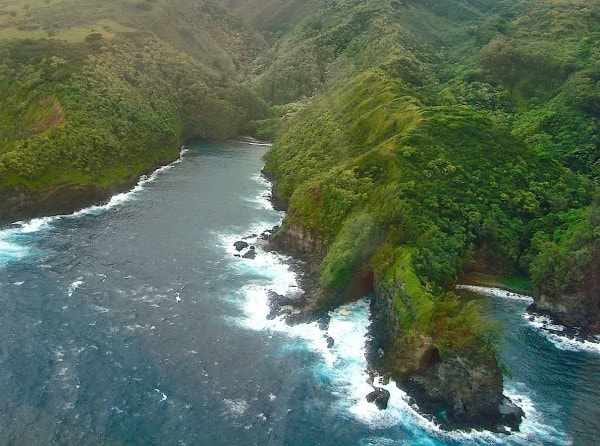 Maui from an helicopter