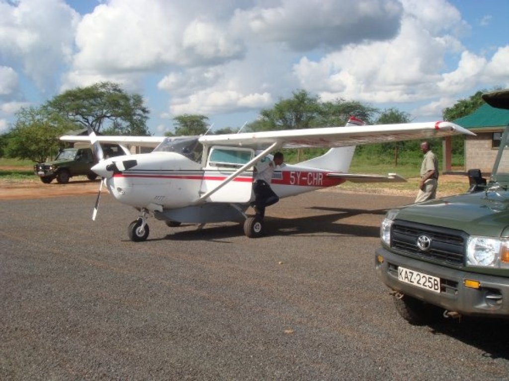 Light aircraft taking me to Meru Park in Kenya