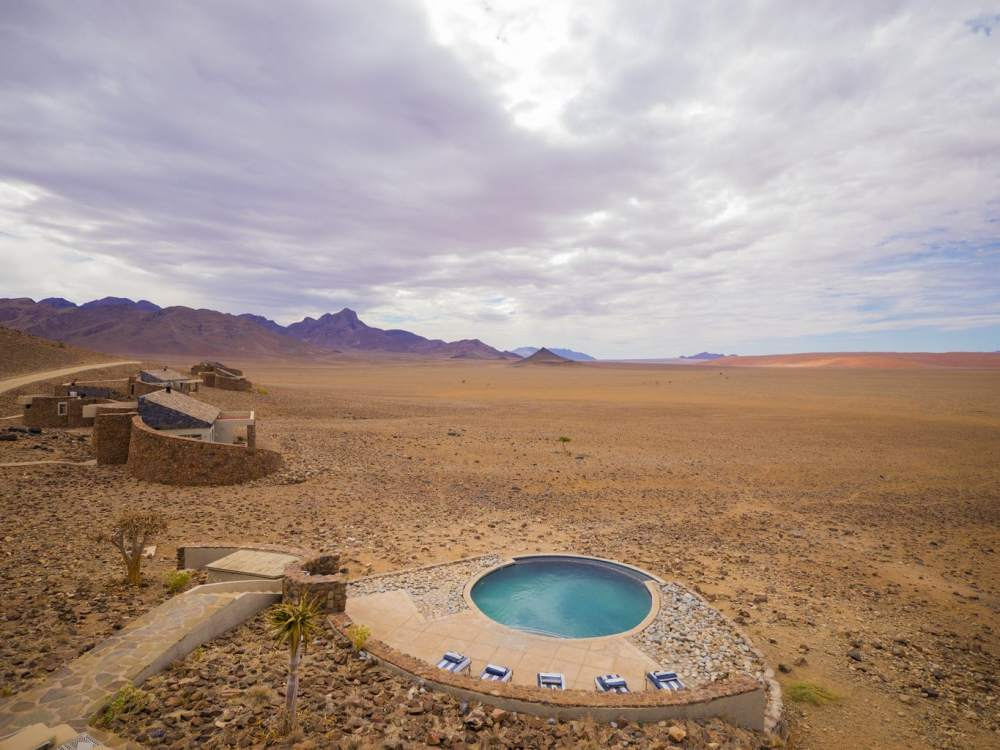 """The pool at &Beyond Sossusvlei Desert Lodge"""