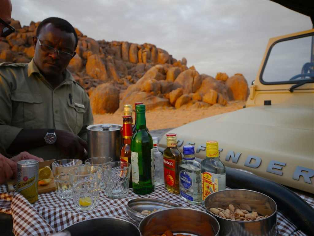 Safari sunset drinks