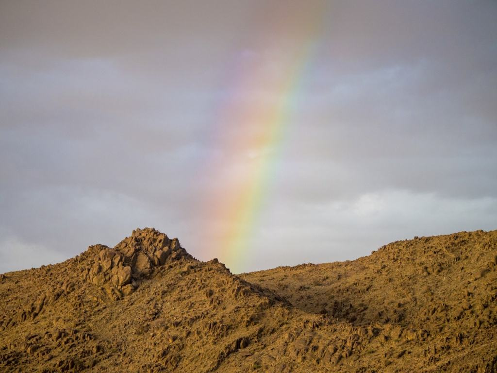 Rainbow in Namibia