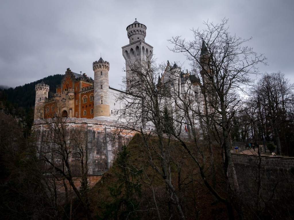 Neuschwanstein Castle from below