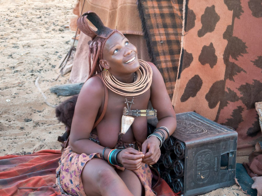 """A Himba woman in northern Namibia"""