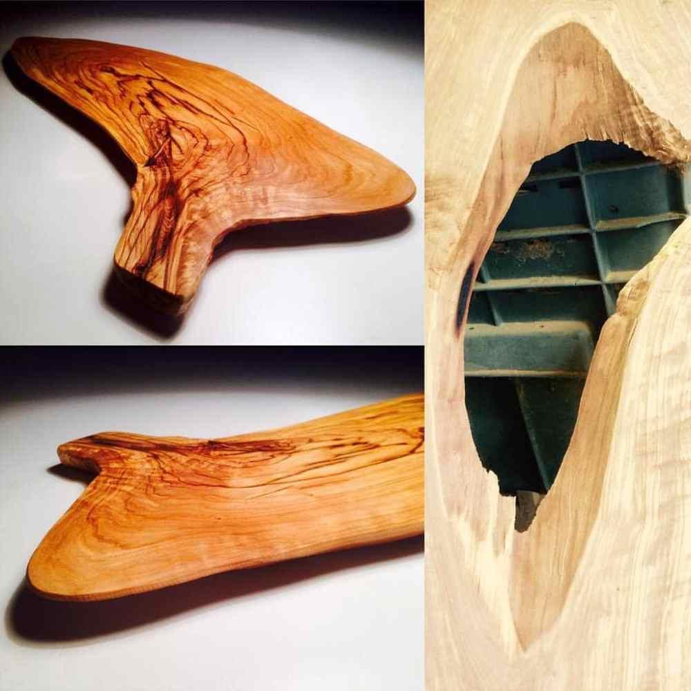 Beautiful wood board made from a knot on the tree