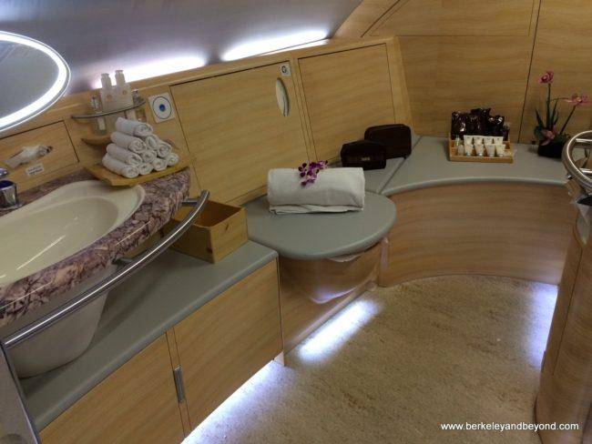"""Emirates A380 shower"""