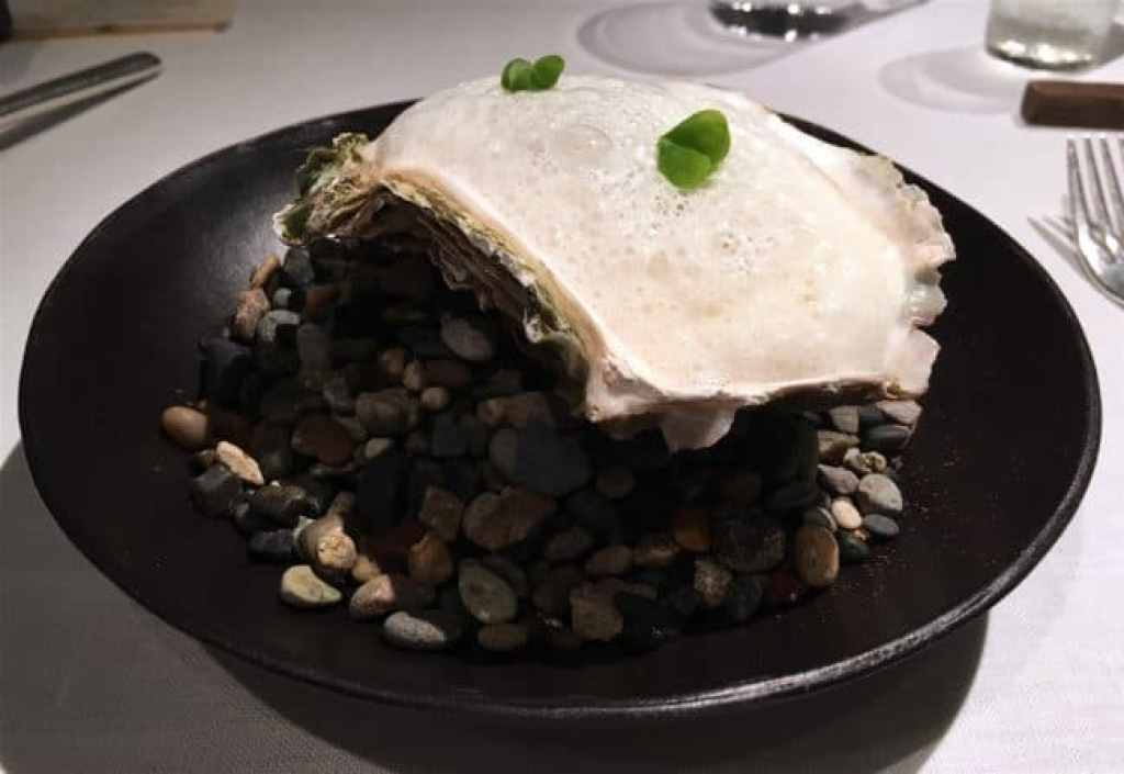 Rock oyster at Narisawa