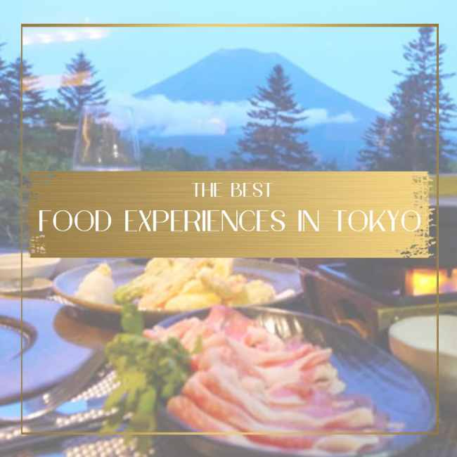 Food experiences in Tokyo feature