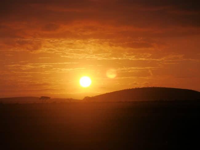 """Sunrise on the Masai Mara"""