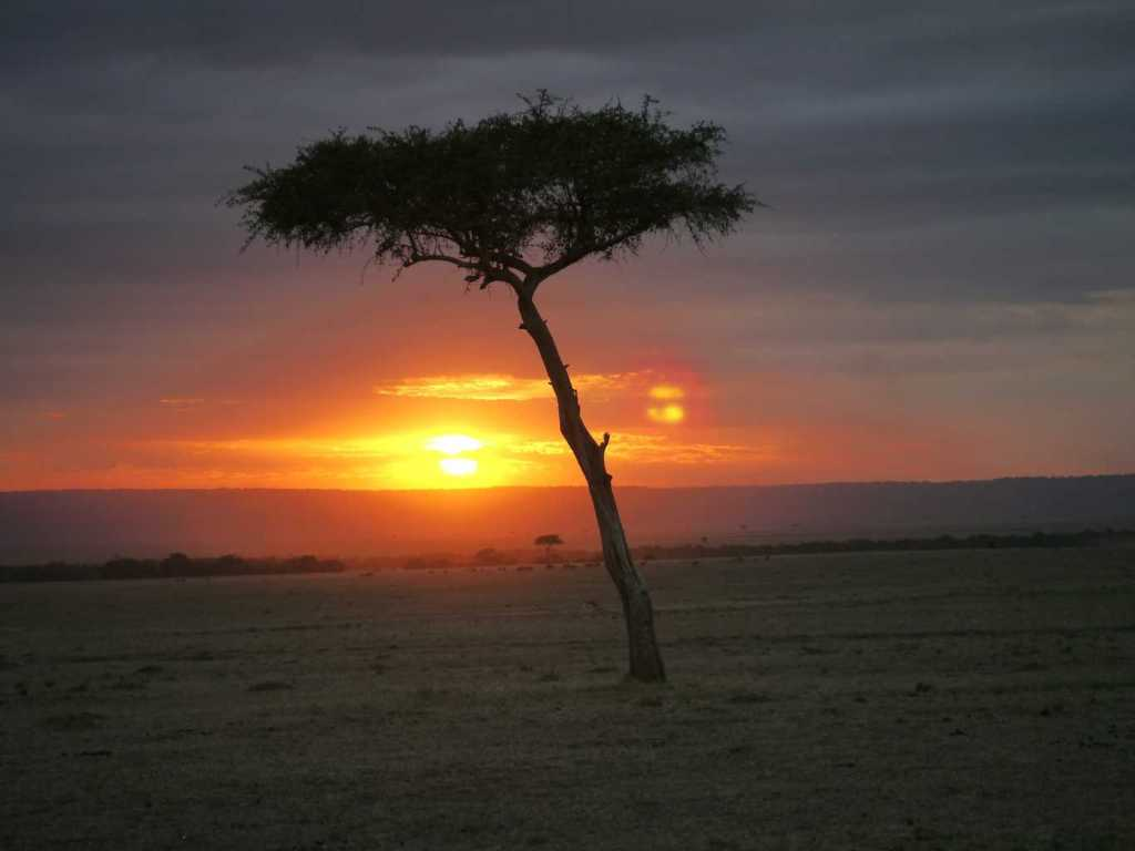 Sunset over Masai Mara
