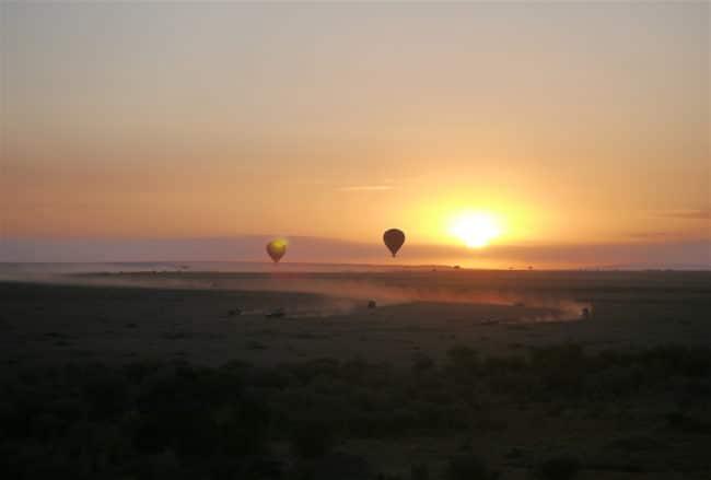 """""""Hot air balloon over Masai Mara"""" classic safari in Kenya"""