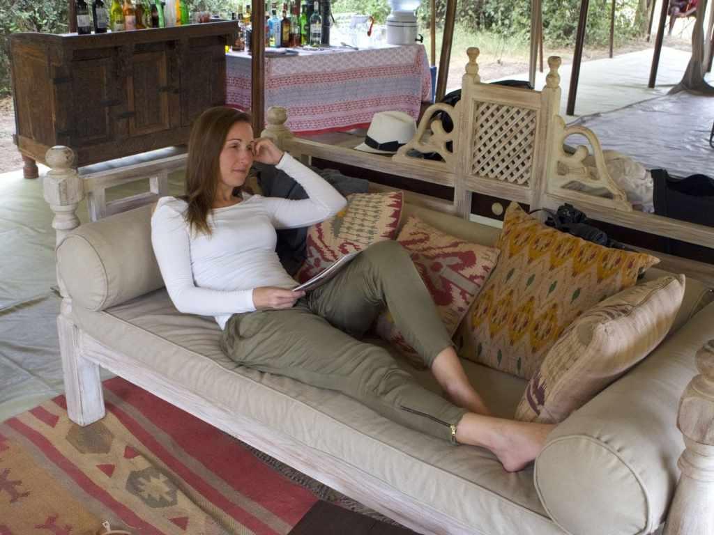 Chilling at Amboseli camp