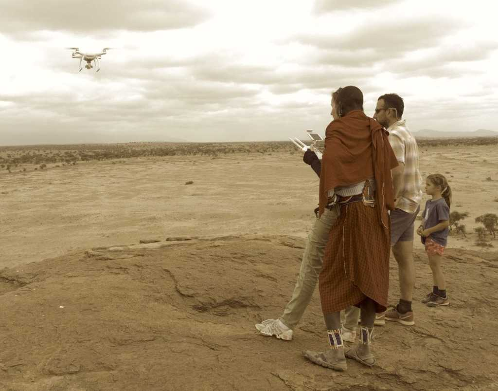 Flying the drone with the Maasai in Amboseli