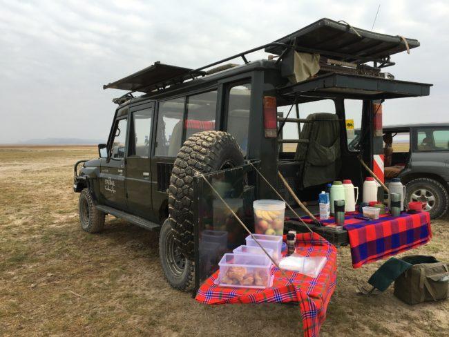 """Breakfast in the bush on safari"""