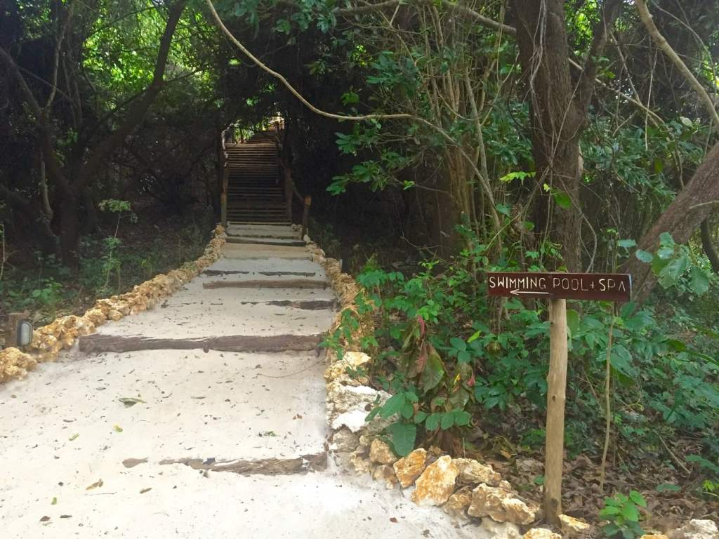 Path to the pool at Fundu Lagoon on Pemba