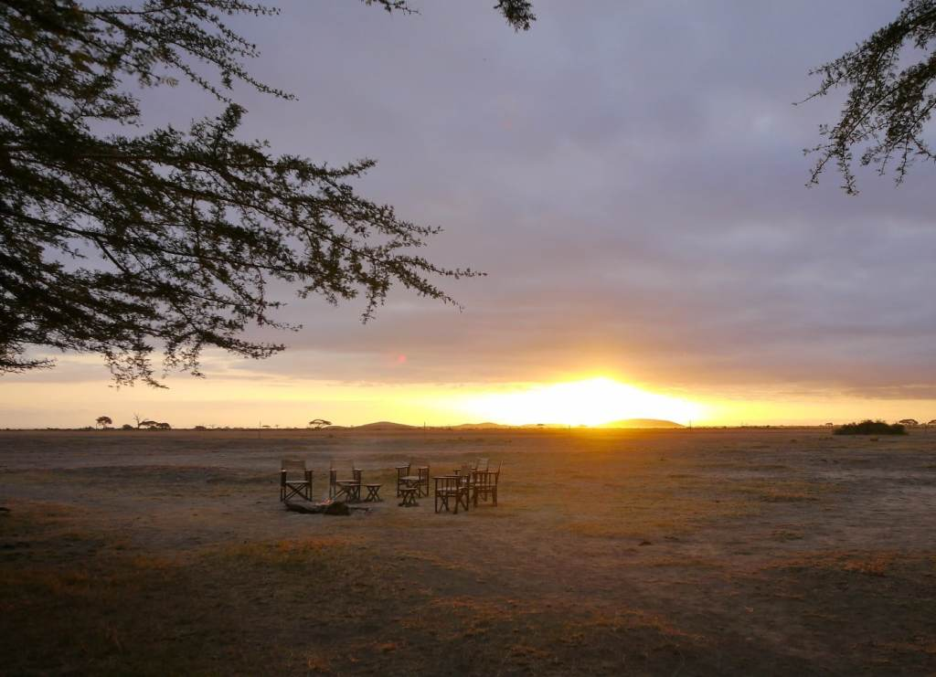 The end of a typical day on safari